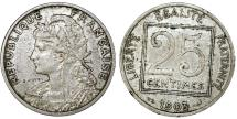 World Coins - France. Republic. NI 25 Centimes 1903. XF