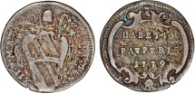 World Coins - ITALY. Papal States. Pope Clemente XII (Lorenzo Corsini)- (1730-1740). AR Grosso 1739. Fine+