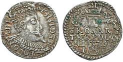 World Coins - Poland. Rzeczypospolita. Olkusz. king Sigismund III. AR 3 Gross 1598. Toned XF