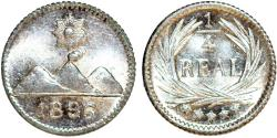 World Coins - Guatemala. Republic. AR 1/4 Real 1896. BU