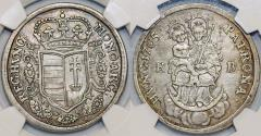 World Coins - Hungary. Independence War (1703-1707). Ferenc Rakoczi (1703-1711) AR Half Taler 1705 KB. NGC XF45