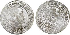 World Coins - Duchy of Prussia (Ex-Teutons State). Albrecht von Hohenzollern (1525-1568) Silver Gross 1534. VF