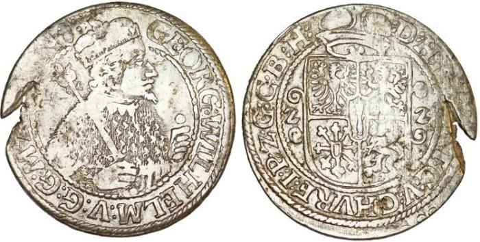 Germany  Brandenburg-Prussia  George I Wilhelm (1619-1640)  AR 1/4 Thaler  1622  Choice VF