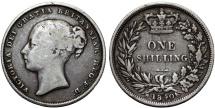 World Coins - Great Britain. Victoria. AR 1 Shilling 1840. VF, Scarce