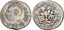 World Coins - HAITI, République d'Haïti (Western). Alexandre Petion as President (1806-1818) AR 12 Centimes AN14 (1817). Fine+.