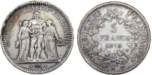 World Coins - France. II Republic. Silver 5 France 1873 A. About VF