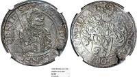 World Coins - Netherlands. LOWLANDS. Utrecht. AR Rijksdaaler 1592. NGC AU58, toned, scarce
