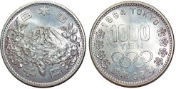 World Coins - Japan 1000 Yen 1964 Tokyo Olympics. Nice BU