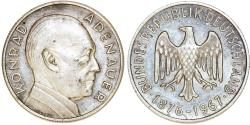 World Coins - Germany. Large Silver Medal of Konrad Adenauer (One of Founding Fathers of EU ) 1967. About UNC