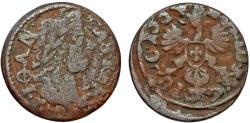 World Coins - Poland. King John II Casmir (1648-1668). Copper Solidus 1664. Fine+