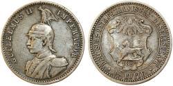World Coins - German East Africa (Tanzania) . AR 1/2 Rupie 1897J. VF