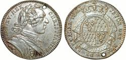 World Coins - France. King Luis XV The Well-Beloved. (1715–1774). AR Jeton States of Brittany 1758. Choice XF.