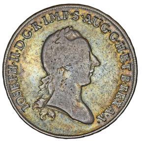 World Coins - Italy: Milan. Giuseppe II (1780-1790). AR Scudo 1785 LB. Nice aVF, toned.