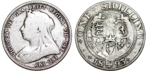 World Coins - Great Britain. Queen Victoria (1837-1901) AR 1 Shilling 1893. Fine+