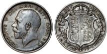 World Coins - Great Britain. king George V. AR Half Crown 1915. Toned Choice VF