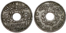 World Coins - French Protectorate. Syria. CU-NI 1 Piastre 1935. Toned XF.