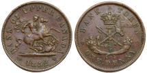 World Coins - Canada. Bank of Upper Canada. AE Penny Bank Token 1852. XF