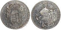 Imperial Austria-Hungary. Joseph II (1780-1790). AR Madonna Half Thaler 1783 X -  B. Choice XF, toned