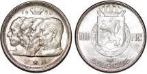 """Belgium. AR 100 Francs 1950. """"Belgique type"""". Choice AU"""