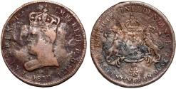World Coins - Haiti, Empire. Faustin I (1849-1858). CU 6¼ Centimes 1850. VG