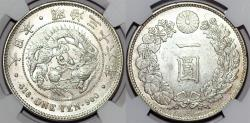 World Coins - Japan. Emperor Mutsuhito (1867-1912). AR YEN (M36) 1903. NGC MS61