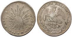 World Coins - Mexico. Republic. AR 8 Reales 1846 Pi-AM. Choice XF, toned, nice piece