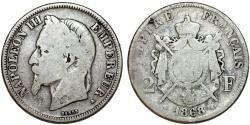 World Coins - France. Napoleon III (1852-1870). AR 2 Francs 1868 A. Fine