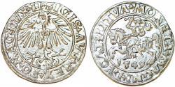 World Coins - Lithuania. Sigismund II Augustus (1546-1572). AR Half Gross 1549. XF