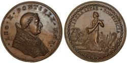 World Coins - Italy. Papal States. Leo X. (1513-1521). AE Medal ND. Choice XF