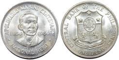 World Coins - Phillippines. Comemorative Silver 1 Peso 1964. Nice UNC