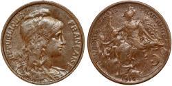 World Coins - France. Republic. AE 5 Centimes 1916. XF