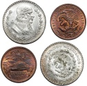 World Coins - Lot of 2 Mexico Coins in Choice UNC condition