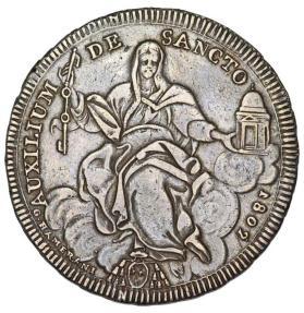 World Coins - Italian Papal States: Rome. Pius VII (1800-1823). AR Scudo 1802 (AN III). Nice Choice VF