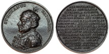 World Coins - Poland. Beautiful Iron Medal of Strephan Bathory by J.J. Reichel ( ca. 1790's). Choice AU, toned.