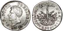 World Coins - HAITI, République d'Haïti (Western). Republic (1825-1849) AR 25 Centimes AN15 (1818). Choice AU