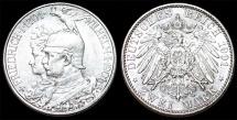 World Coins - Germany. Kingdom of Prussia. king Wilhelm II (1888-1918) Silver 2 Mark 1901. Choice AU/UNC