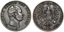 World Coins - Germany. Prussia. Wilhelm IV (1840-1861). Silver Thaler 1861 A. Nice Choice XF/AU