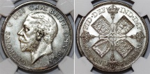 World Coins - Great Britain. King George V. AR Florin 1927. NGC PF63, toned