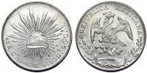 World Coins - Mexico. Republic. AR Peso 1896 Go RS. UNC