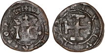 World Coins - Italy Naples and Sicily Joanna the Mad and Charles V of Habsburg (1516 - 1519)  Cu Grano ND. Fine+, RARE!