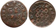 World Coins - Malta. Order of Knights of St. John. Emmanuel de Rohan (1775-1797) 1 Grano 1785. VG