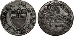 World Coins - Swiss Cantons. Vaud. BI 1/2 Batzen 1818. XF, toned