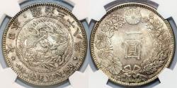 World Coins - Japan. Emperor Mutsuhito (1867-1912). AR YEN (M38) 1905. NGC MS64, toned, NICE!!