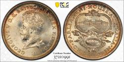 World Coins - British Commonwealth Australia. Commemorative Silver Florin 1927. PCGS MS63+!
