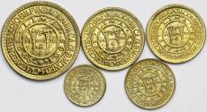 World Coins - Peru. Republic. Lot of 5 coins: 5 Centavos to Sol 1965. Choice UNC