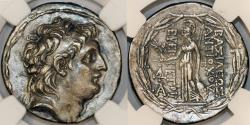 World Coins - Greec: SELEUCID KINGDOM. Antiochus VII Euergetes (Sidetes) (138-129 BC). AR tetradrachm. NGC Choice VF, brushed