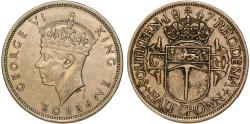 World Coins - British Southern Rhodesia. CuNi ½ Crown 1947. Choice XF