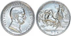 World Coins - Italy. Kingdom. Vittorio Emanuele III (1900-1946). AR 1 Lira 1915 R. AU+, nice