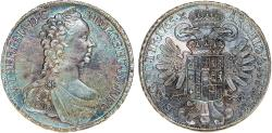 World Coins - H.R.E. Austria. Empress M. Theresa (1740-1780). FAMOUS AR Taler 1765. Original Piece. Choice XF/AU