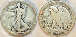 Us Coins - USA. Walking Liberty Half Dollars 1921-D. PCGS G04! Rare date!